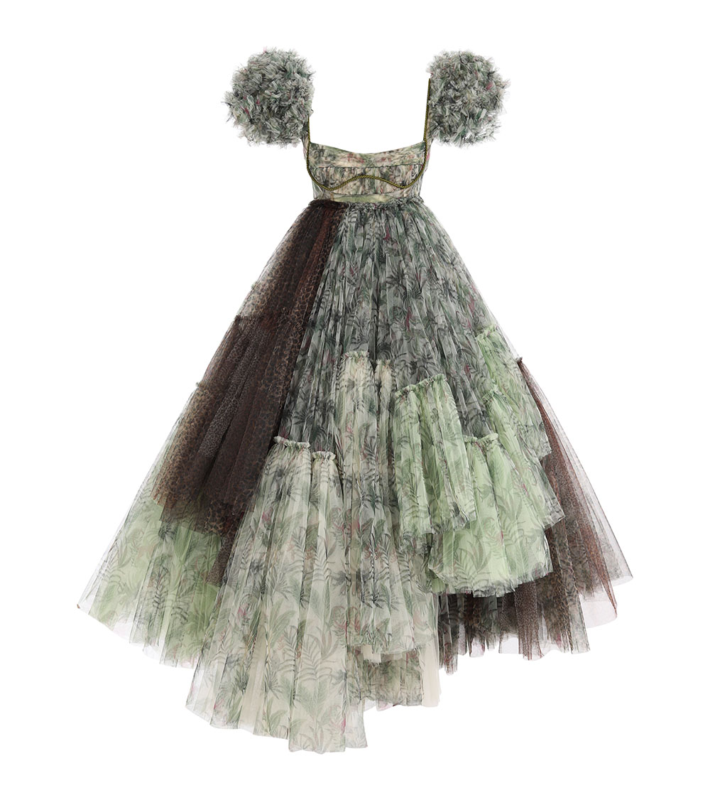 Nixie Jungle Tulle Dress front view