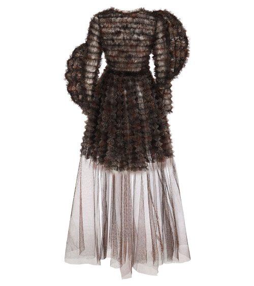 Nocturnal Tulle Elbise arkadan görünümü