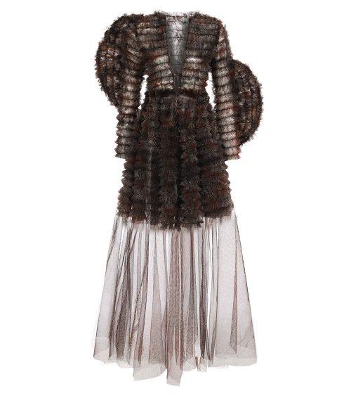 Nocturnal Tulle Elbise önden görünümü