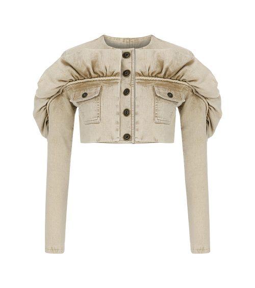 Safari Denim Ceket önden görünümü