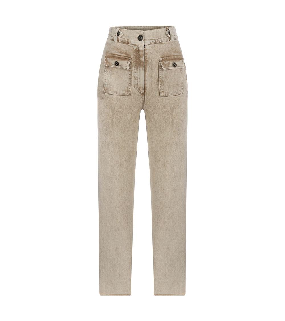 Safari Denim Pants front view