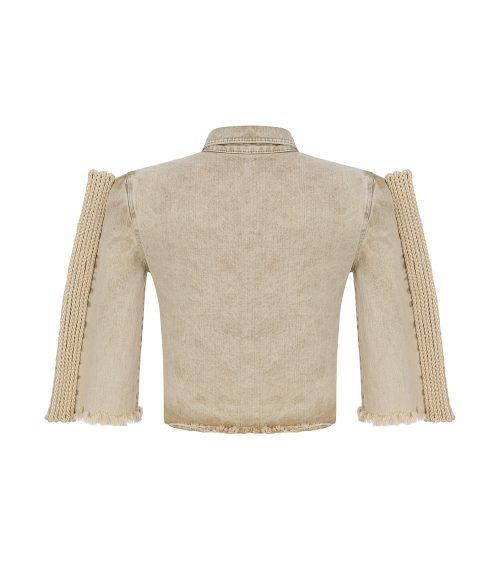 Safari Denim Gömlek Bluz önden görünümü