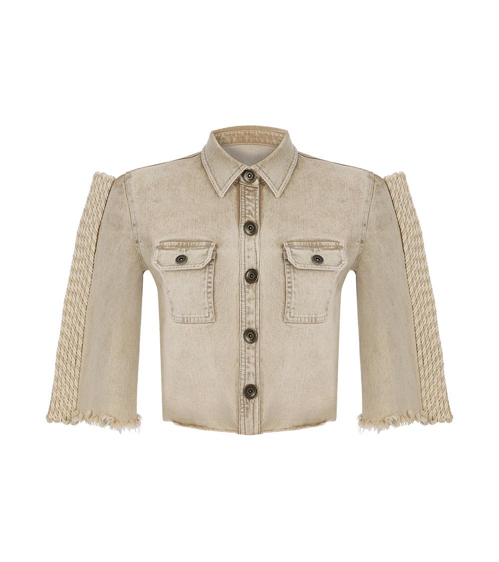 Safari Denim Shirt front view