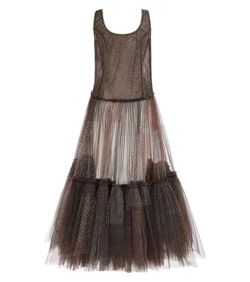 Safari Tulle elbise arkadan görünümü