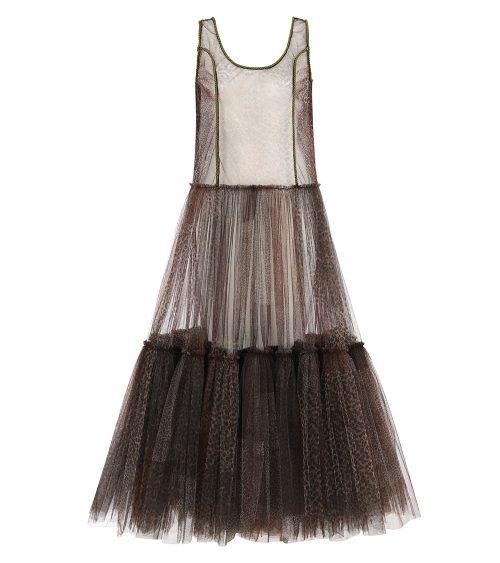Safari Tulle elbise önden görünümü