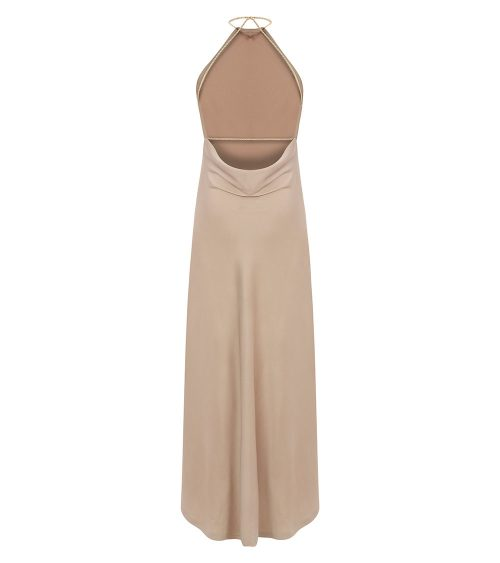 Silk Satin Dress back view