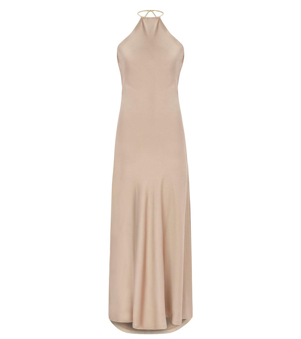 Silk Satin Dress front view