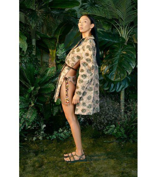 Jungle Balloon Sleeve Ceket manken üzerinde görünümü