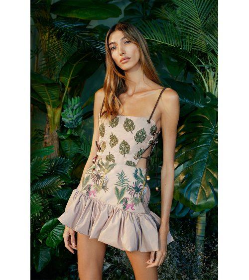 Jungle Mini elbise manken üzerinde görünümü