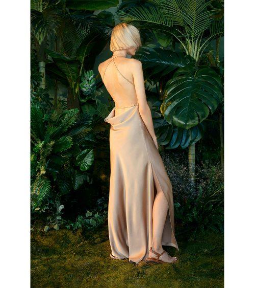 Silk Satin Dress model view