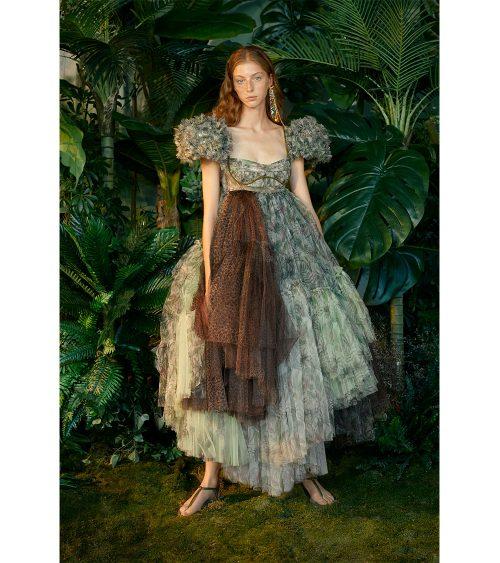 Nixie Jungle Tulle Elbise manken üzerinden görünümü