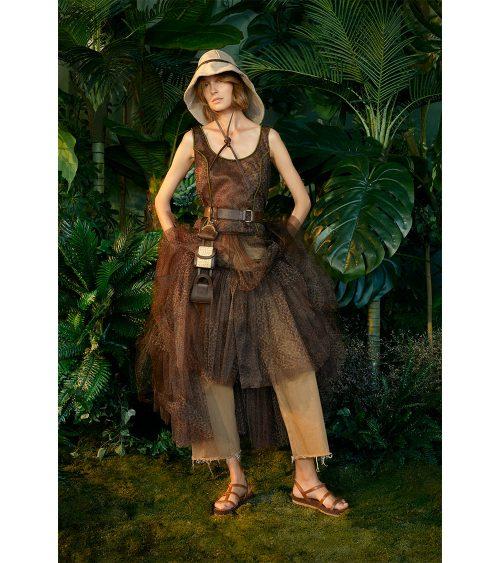 Safari Tulle elbise manken üzerinde görünümü