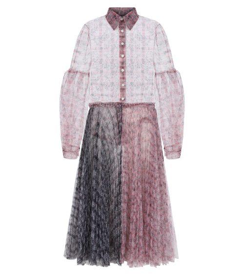 blossom shirt dress front view